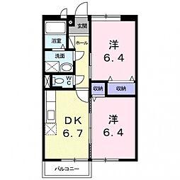 クレ・ドミール2[203号室号室]の間取り
