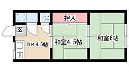 愛知県名古屋市南区中江1丁目の賃貸アパートの間取り