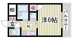 レファインド春日野道[7階]の間取り
