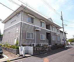 京都府八幡市西山足立の賃貸アパートの外観