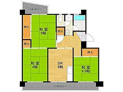 UR中山五月台住宅[22-404号室]の間取り