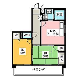 サクラハイツ[3階]の間取り