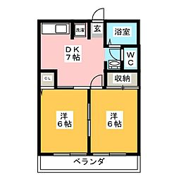 ニューハイツイザワ2[2階]の間取り