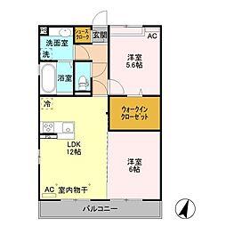 (仮)オッツ小島田町[2階]の間取り