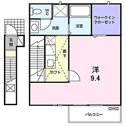 神奈川県川崎市宮前区東有馬2丁目の賃貸アパートの間取り
