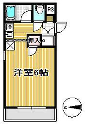 ウエストパレス奈る駒[4階]の間取り
