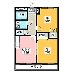 サンコート土田[1階]の間取り