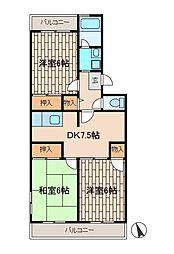 パークサイド葉積[2階]の間取り
