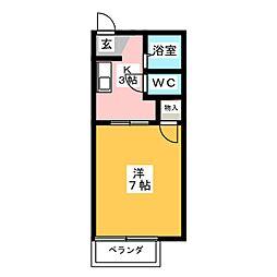 タウニーマイ[1階]の間取り