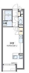 JR山陽本線 福山駅 3.8kmの賃貸アパート 1階ワンルームの間取り