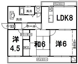 福岡県福岡市早良区次郎丸6丁目の賃貸マンションの間取り