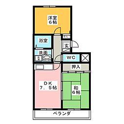 コンフォール大高[2階]の間取り