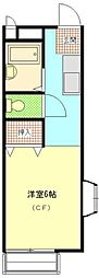 糸井ハイツ[2階]の間取り
