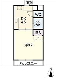 コーポカトウII[2階]の間取り