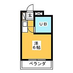 ギャザー35[5階]の間取り