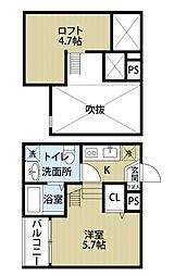 Casea (カセア)[1階]の間取り