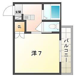 ラトゥール守口II[2階]の間取り