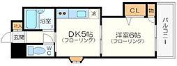 有馬パレス新大阪[1階]の間取り