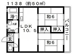 安井マンション[306号室号室]の間取り