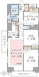 アパートメンツ東雲キャナルコート[12階]の間取り