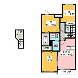RICHES 21[2階]の間取り