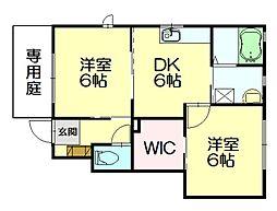 シャーメゾン桜A・C[1階]の間取り