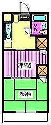 武蔵浦和宝マンション[1階]の間取り