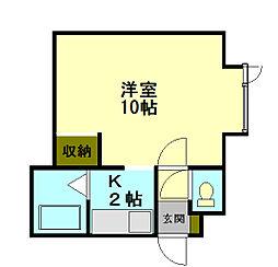 ひまわりコーポ[2階]の間取り