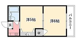 アルカディアマーユ2[1階]の間取り