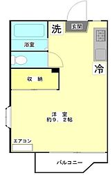 神奈川県川崎市多摩区枡形4丁目の賃貸アパートの間取り