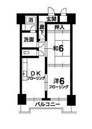 徳島県板野郡藍住町勝瑞字東勝地の賃貸マンションの間取り