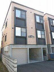 北海道札幌市白石区栄通3丁目の賃貸アパートの外観