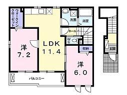 石川3丁目アパート[203号室]の間取り