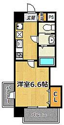 サムティ大阪CITY WEST[1405号室]の間取り