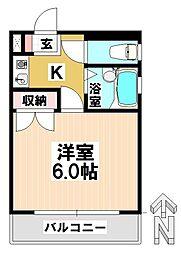 愛知県名古屋市瑞穂区洲山町1丁目の賃貸マンションの間取り