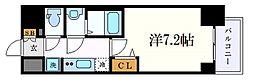 プレサンス丸の内アデル 12階1Kの間取り