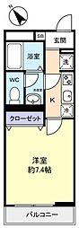 リブリ・八千代台東[3階]の間取り