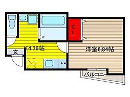 ステージ鳩ヶ谷本町[101号室]の間取り