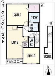 クレールカルチェVI[2階]の間取り