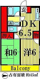 パークサイドユタカ[201号室]の間取り