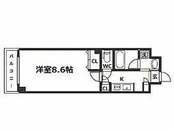 エグゼ大阪城東[5階]の間取り