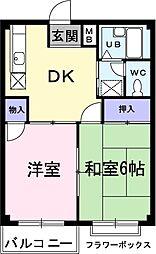 エルディム新地[2階]の間取り