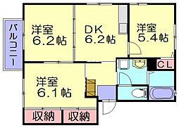 エポックサンハイム[2階]の間取り