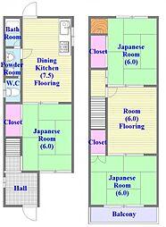 [一戸建] 兵庫県神戸市垂水区清水が丘1丁目 の賃貸【兵庫県 / 神戸市垂水区】の間取り