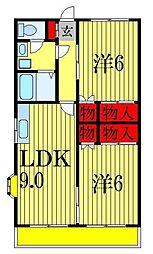 カサ・フローラ新高根[2階]の間取り