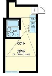 東京都大田区東蒲田1丁目の賃貸アパートの間取り