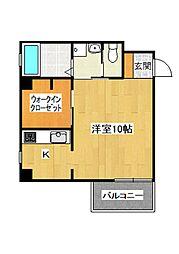 Apartment繭[201号室]の間取り