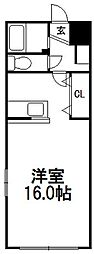 フレスノパーク菊水[105号室]の間取り