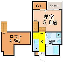 春日井市関田町二丁目デザイナーズ[1階]の間取り