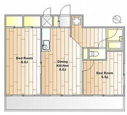 レスポアール[4階]の間取り